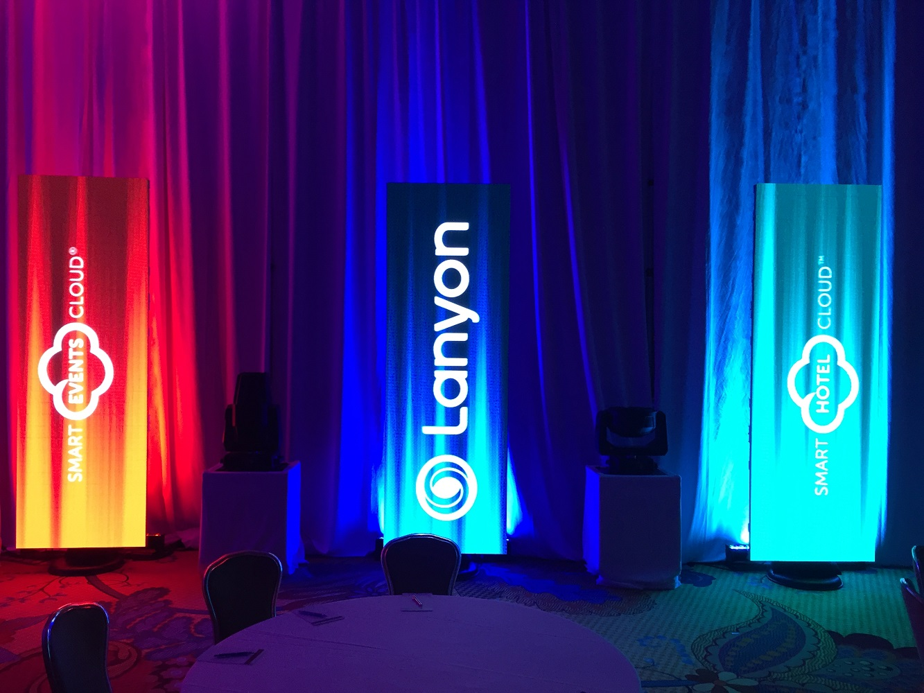 LED walls were used for branding